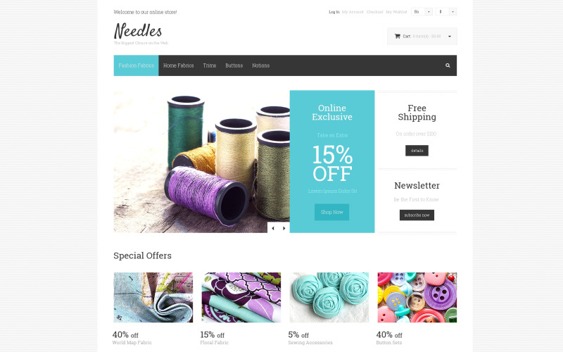 Needles Magento Theme