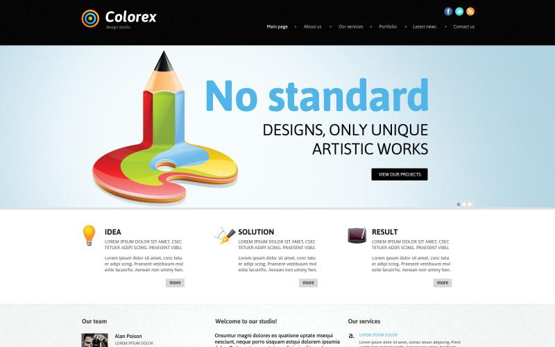 Responsiv Joomla-mall för designstudio
