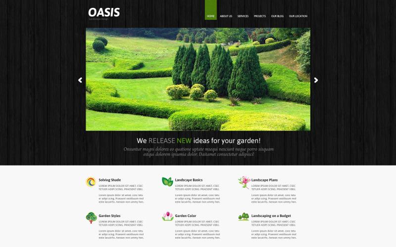 Responsiv Joomla-mall för landskapsdesign