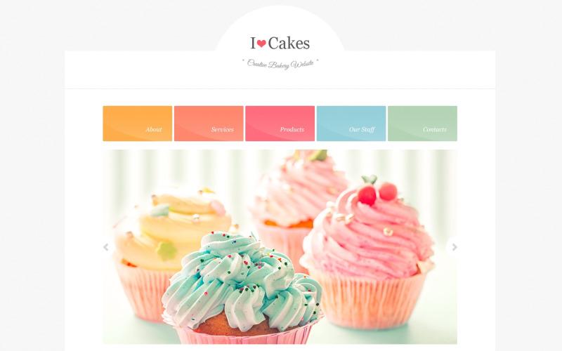 Responsiv webbplatsmall för bageri