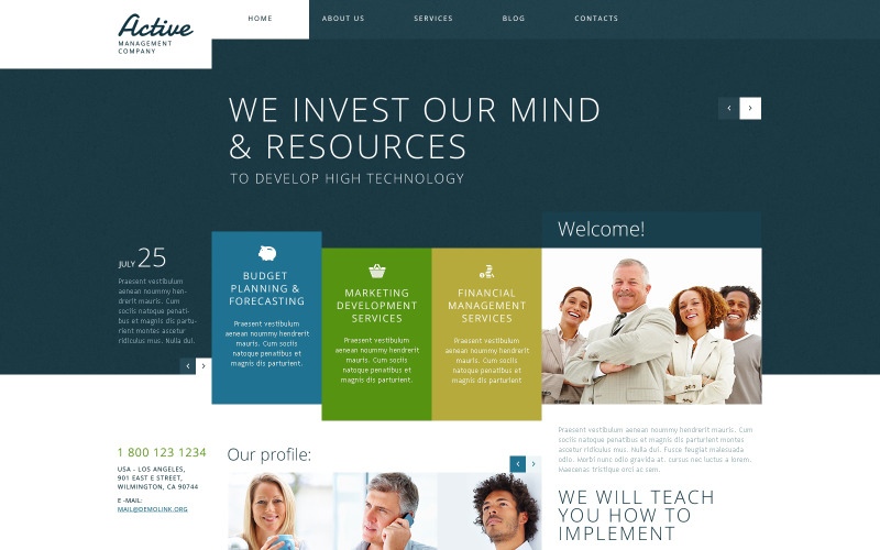 Active Management WordPress Theme