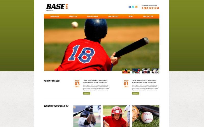 Бейсбол чуйний шаблон Joomla