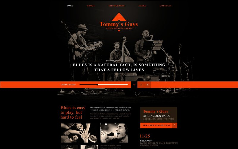 Blues Connecting People Website Template