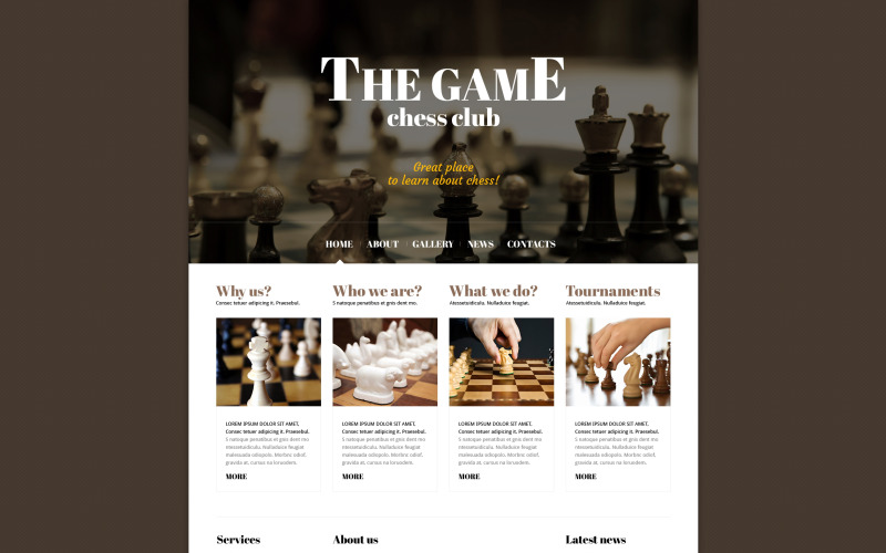 Chess Responsive Joomla Teması