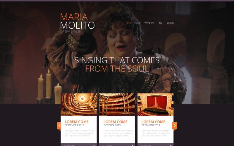 Elegant Opera Singer Website Template