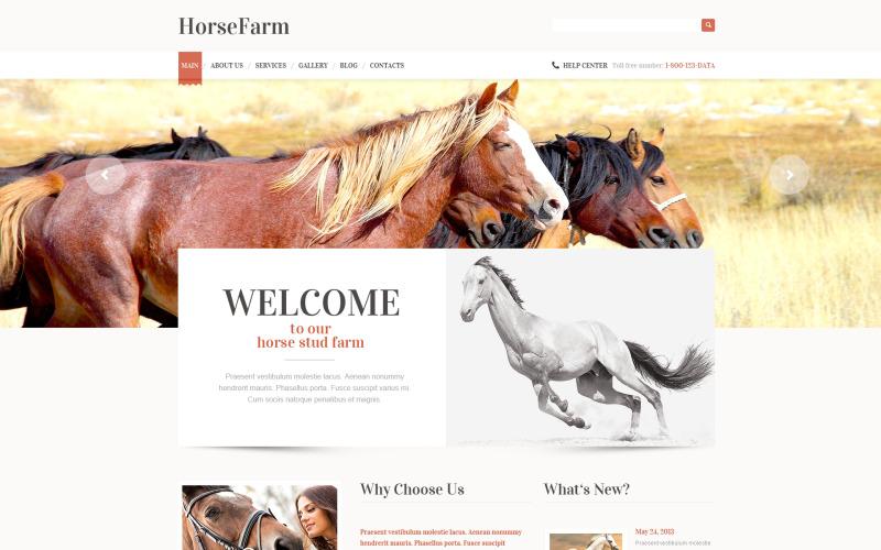 Främjande av WordPress-tema för Horse Farms
