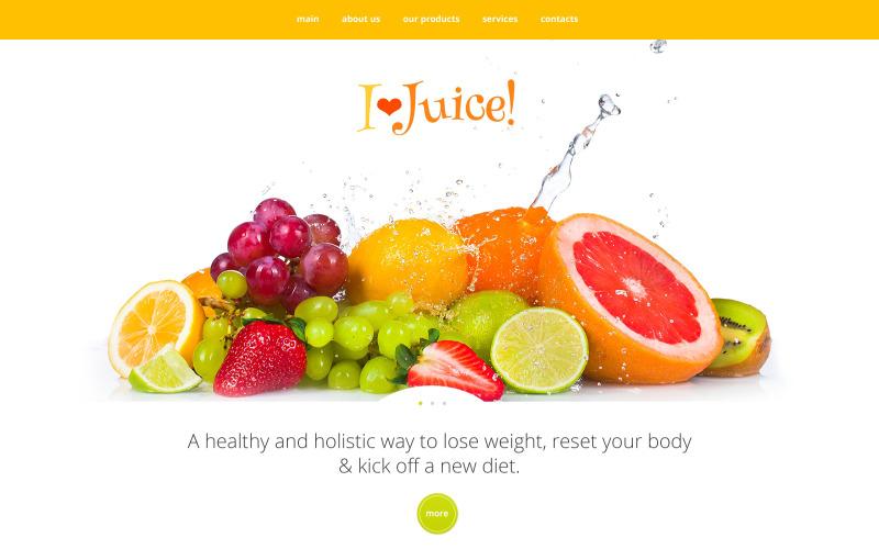 Hälsosam webbplats webbplats mall