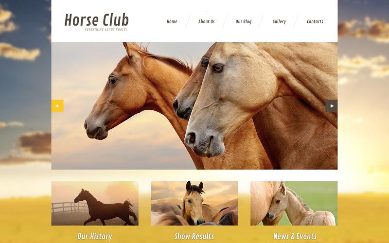 Hästresponsiv Joomla-mall