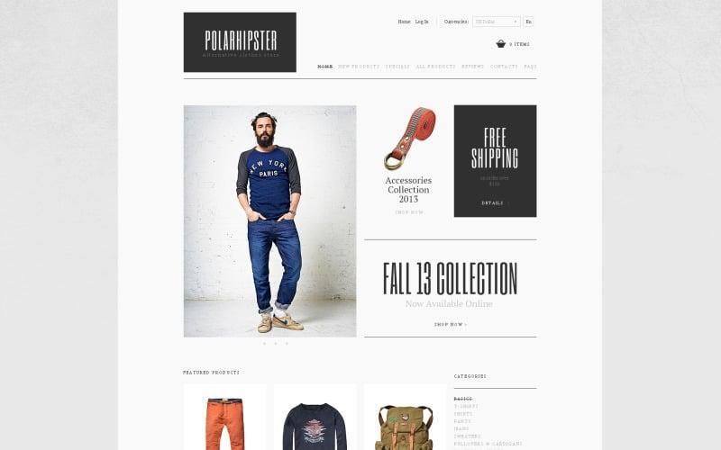 Hipster klädd ZenCart-mall
