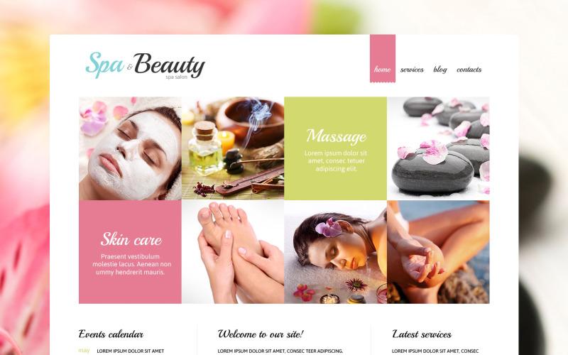 Joomla-mall för skönhetssalong