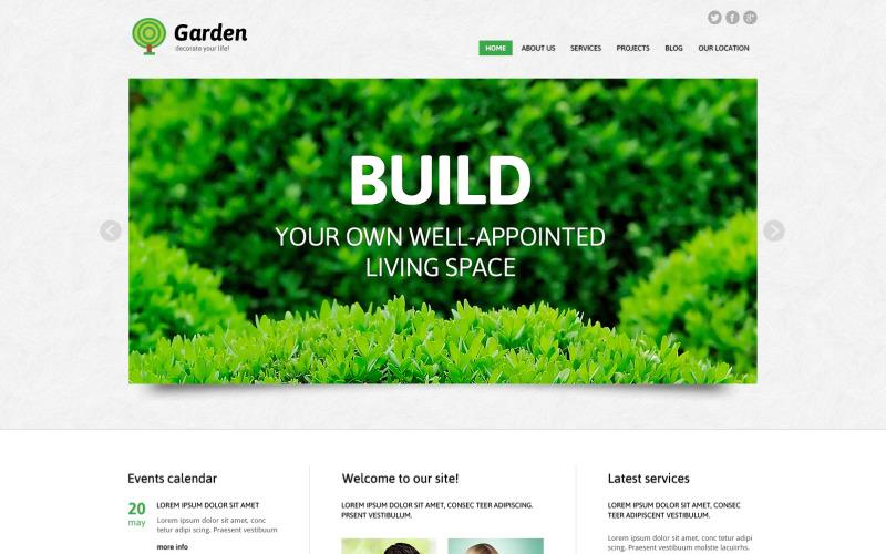 Trädgårdsdesign Responsive Joomla-mall