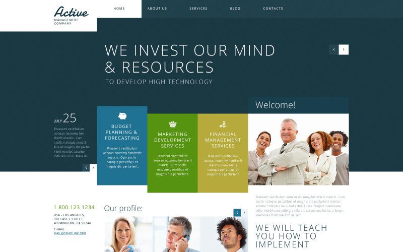 WordPress-tema för aktiv förvaltning