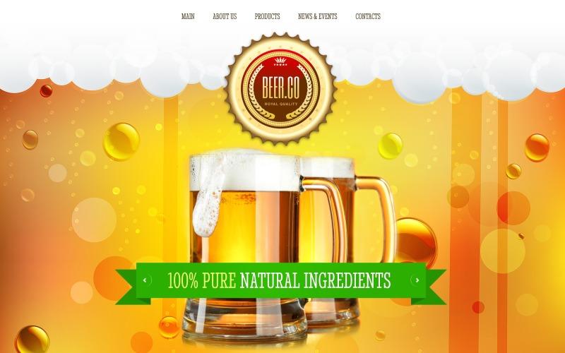Bryggeriets responsiva webbplatsmall