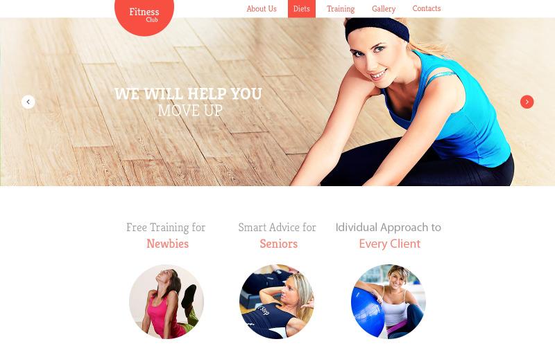 Fitness-responsiv webbplatsmall
