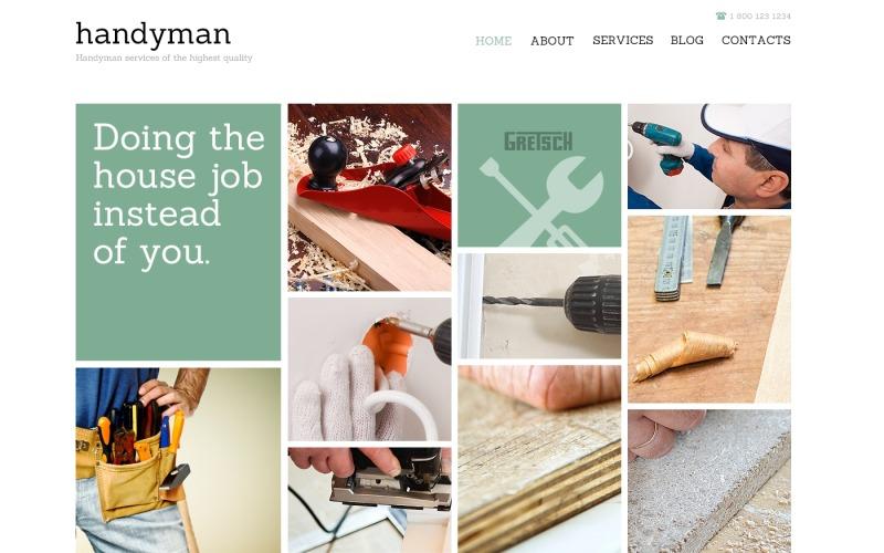 Handyman för framgång Joomla-mall