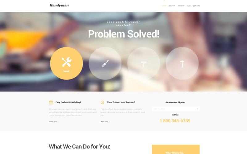Handymans marknadsföring WordPress-tema