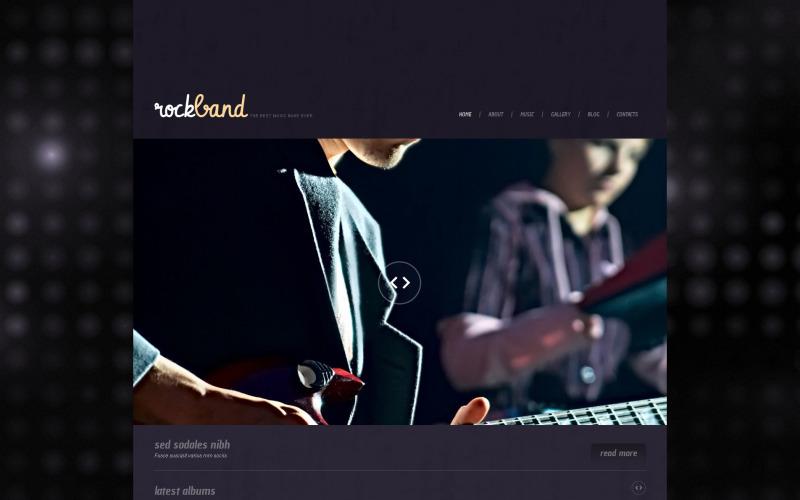 Музыкальная адаптивная тема WordPress