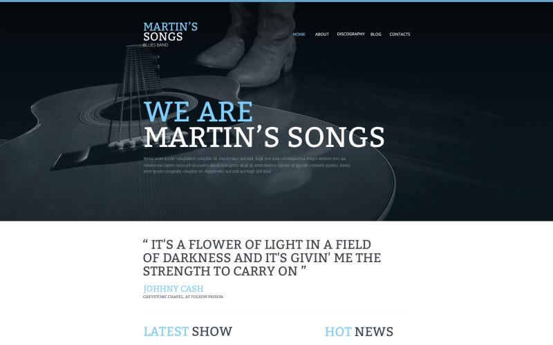 Responsiv webbplatsmall för musikband