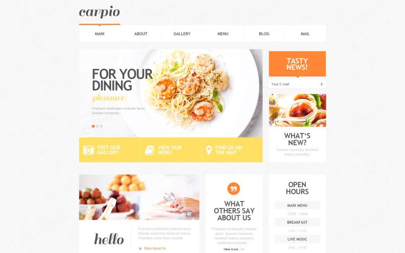 Responsivt WordPress-tema för café och restaurang
