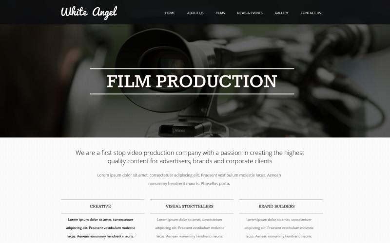 Videografer responsiv webbplatsmall