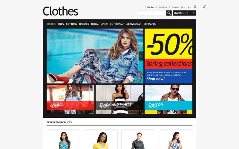 Clothes for Choosy Women PrestaShop Theme