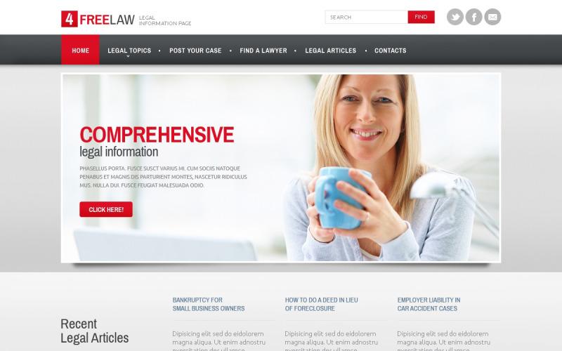 Juridisk responsiv webbplatsmall