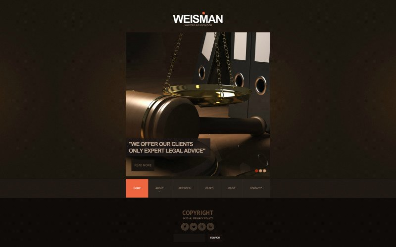 Law Firm Flash CMS Template