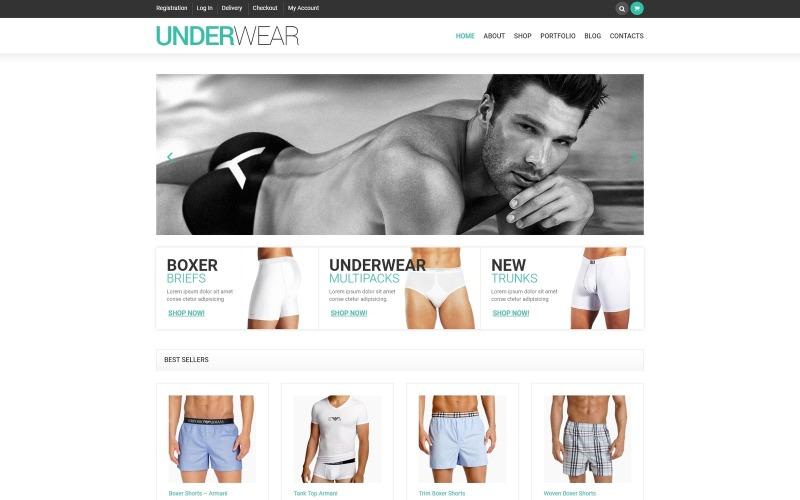 Manligt underkläder WooCommerce-tema