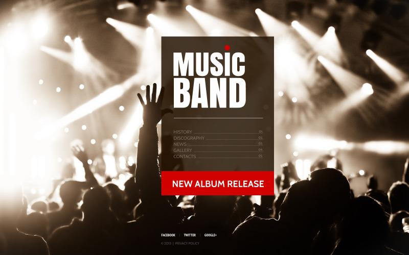 Musikband webbplats mall