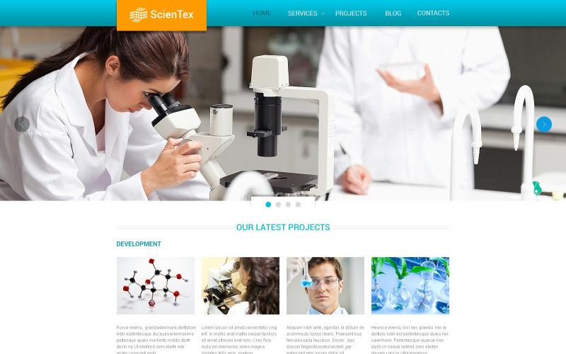 Science Lab Responsive webbplatsmall