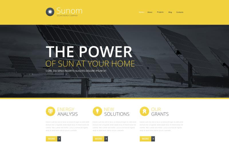 Solenergi responsiv webbplats mall
