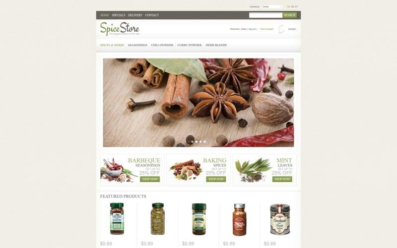 Spice Shop OsCommerce Template
