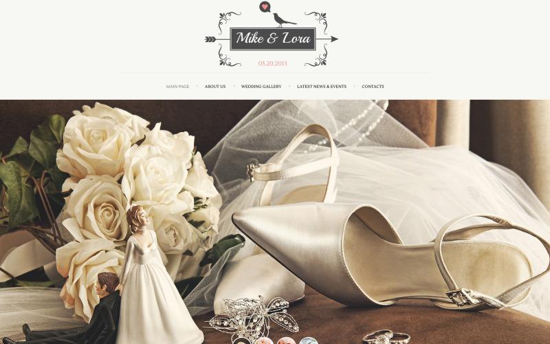 Bröllopsalbum webbplats mall