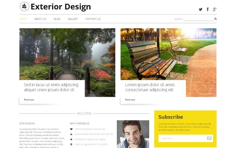 Exteriör design blogg WordPress tema
