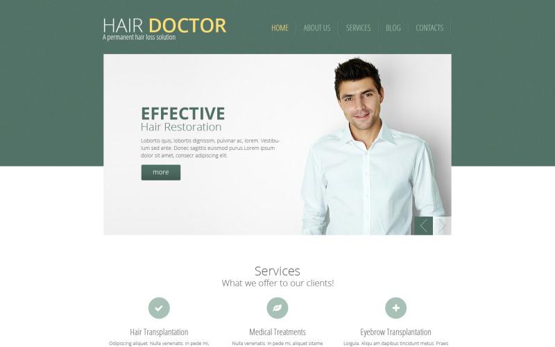 Hårklinik responsiv webbplats mall