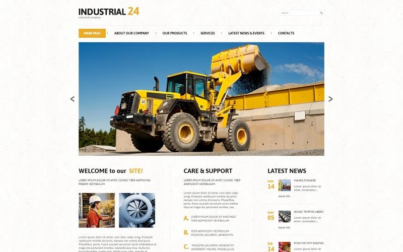 Industriellt lyhörd WordPress-tema