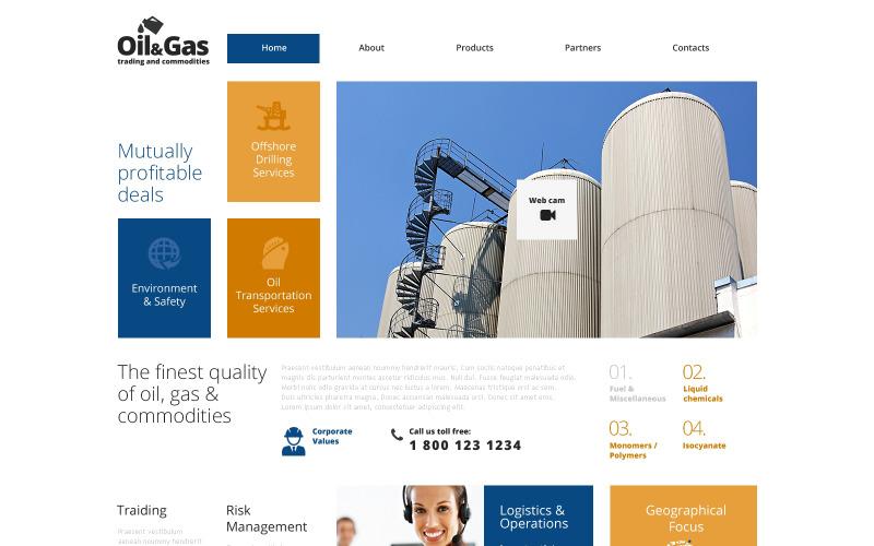 Modèle de site Web réactif pour le gaz et le pétrole