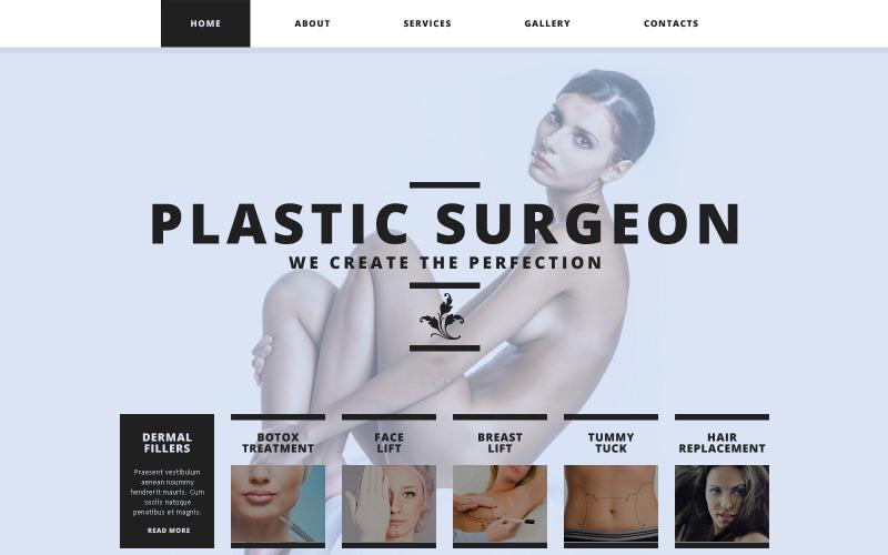 Plastikkirurgisk responsiv webbplatsmall
