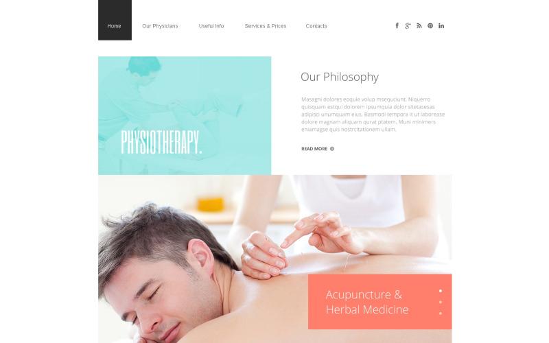 Rehabiliteringsresponsiv webbplatsmall
