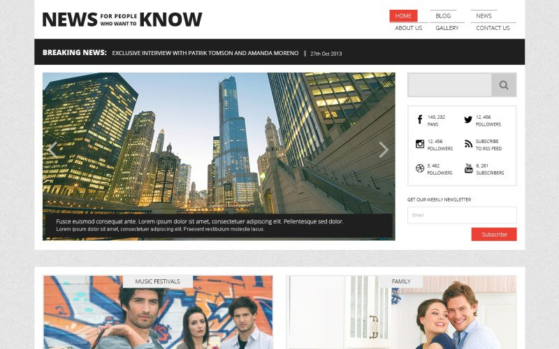 Tema WordPress responsivo do Portal de Notícias