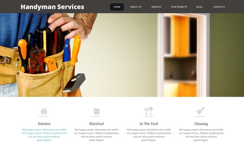 Впечатляющая тема WordPress для служб разнорабочих