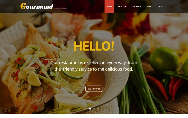 WordPress-tema för gourmetrestaurang