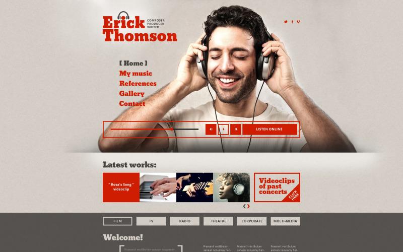 DJ-responsiv webbplatsmall