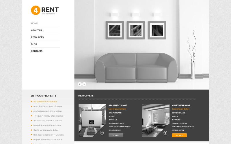 Fastighetsbyråns responsiva WordPress-tema