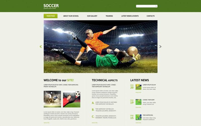 Fotboll Responsive Joomla-mall