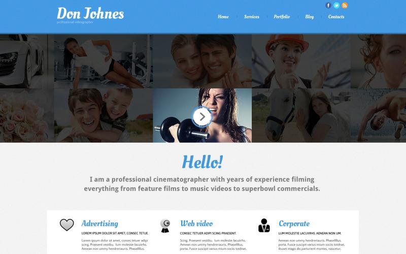 Fotografportfölj Responsiv Joomla-mall