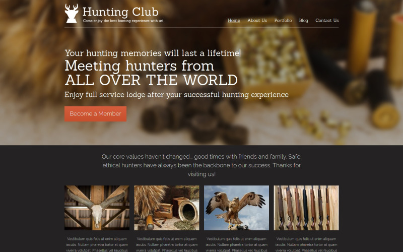 Hunting Drupal Template