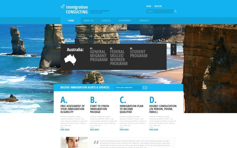 Immigration Consulting Responsive Website Mall