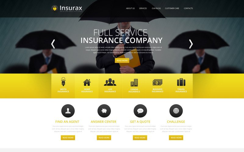 Insurance Drupal Template