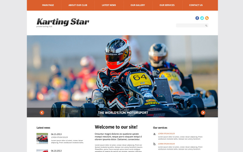 Karting Responsive WordPress-tema
